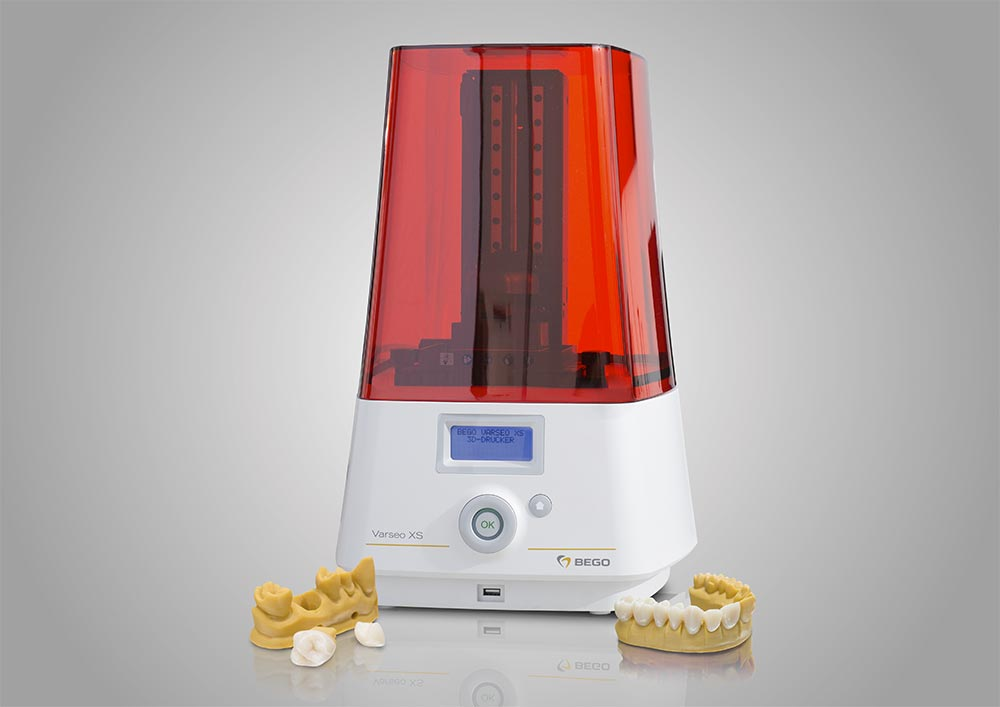 The BEGO Varseo XS was specially developed for fast and precise 3D printing of temporary and permanent restorations.